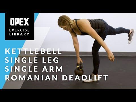 Kettlebell Single Leg Single Arm Romanian Deadlift – OPEX Exercise Library