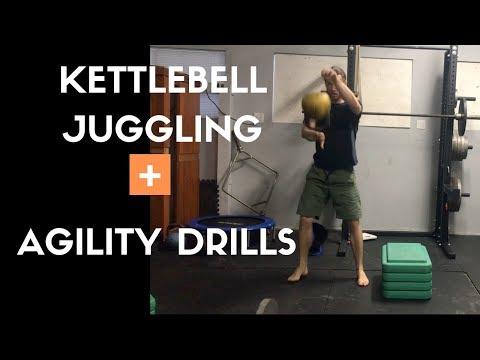 Kettlebell Juggling + Agility Drills