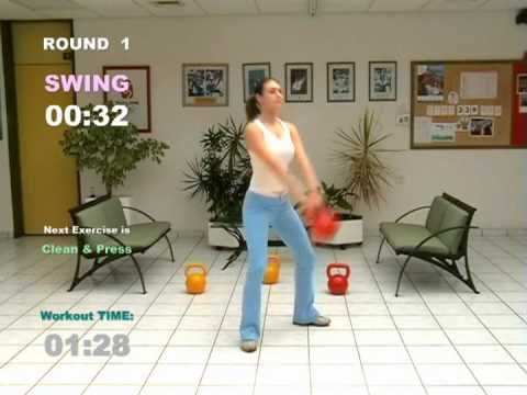 Kettlebell SWING by FITNESS ACADEMY – CARDIO MACHINE © ® 2007