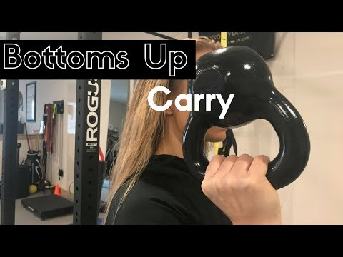 Bottoms-up Kettlebell Lift for Grip and Shoulder Energy