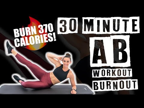 30 Minute Ab Workout Burnout 🔥Burn 370 Energy 🔥