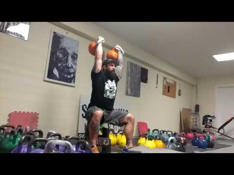 Seated Kettlebell Strict Press for Shoulder Energy and Balance