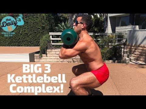 🧨BIG 3 KETTLEBELL COMPLEX!   BJ Gaddour Men's Neatly being MetaShred Kettlebells Workout Exercises