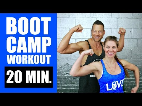 20 MINUTE BOOTCAMP WORKOUT WITH KETTLEBELL, CARDIO, ABS   Corpulent Burning Boot Camp Insist Routine 2
