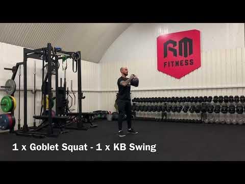 Kettlebell Work Out (Squat V Swings 10-1-10)