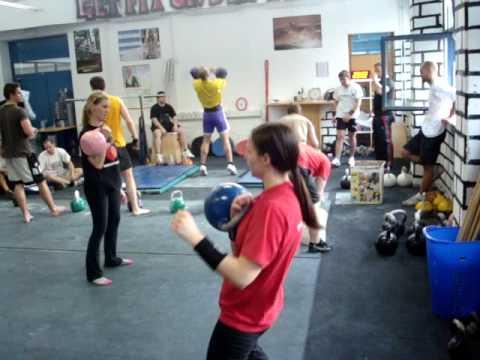 Kettlebell Fitness Class, Trainer Tajda Sobočan