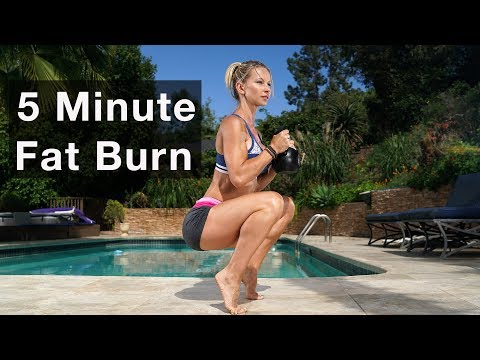 5 Minute Fat Burning Exercise #129 – Kettlebell Practicing