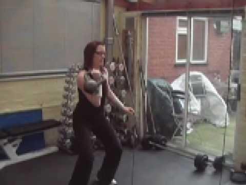 Ladies folk's Kettlebell Workout Circuit