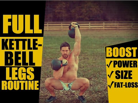 COMPLETE Lower Body Kettlebell Routine [Strength, Power & Muscularity!] | Chandler Marchman