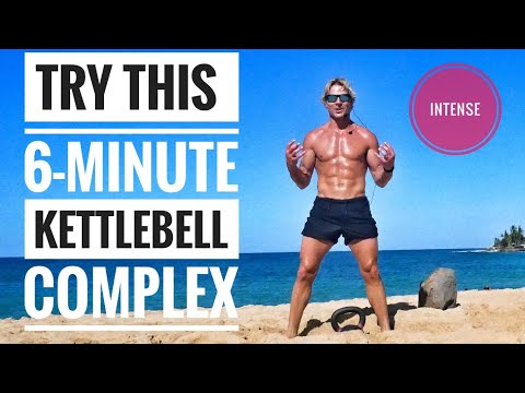 Intense 6-Minute Full-Body Kettlebell Exercise: Live it with Me for these that Can