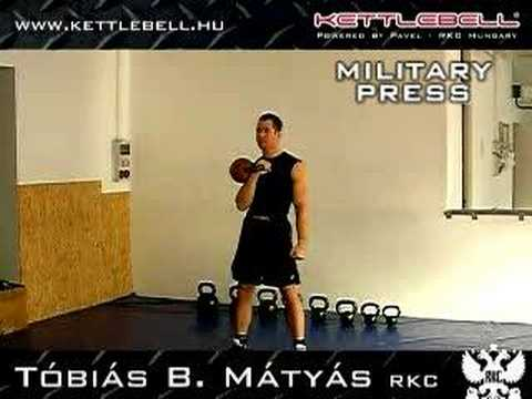 Kettlebell Militia Press Tobias B. Matyas RKC