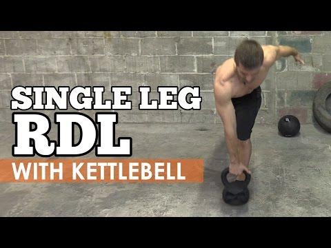 How to enact Single Leg RDL with Kettlebell (Romanian Deadlift)