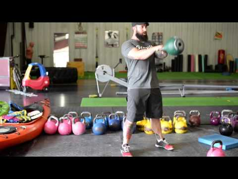 Double Arm Smartly being Kettlebell Swing