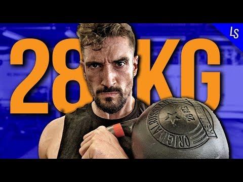 28 kg Kettlebell Workout für PROFIS – (NO TALK WORKOUT #18)