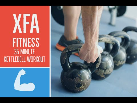 35 Minute Kettlebell Reveal. Hardcore. Burn Paunchy, Assemble Persistence, Tell Hard.