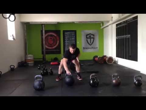 Monster Kettlebell cleans;80kg,68kg,60kg,48kg+2 x 68kg presses.