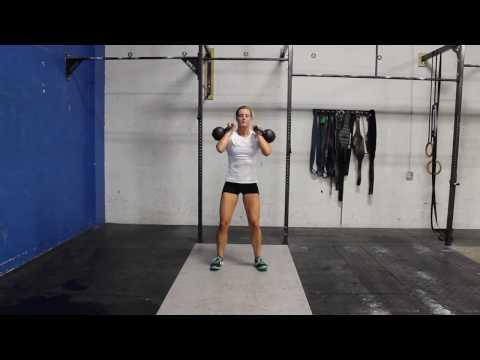 Double Kettlebell Thruster – CrossFit Pronounce E book