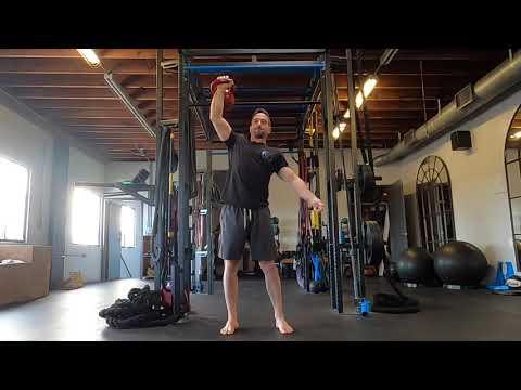 Kettlebell 4×4 Ladder Snarl For Shoulder Energy And Pull-up Energy