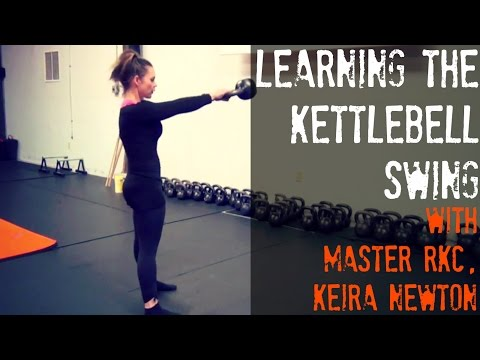 Finding out the Kettlebell Swing with Grasp RKC, Keira Newton
