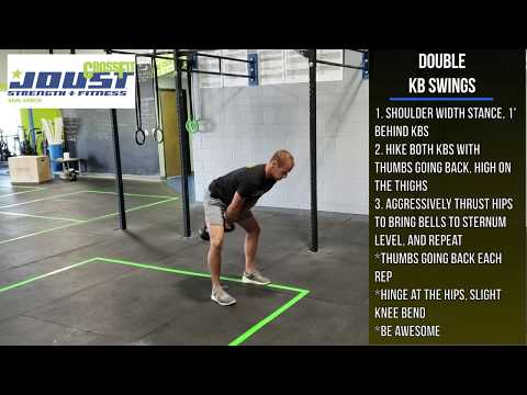 Double Kettlebell Swings – CrossFit Joust