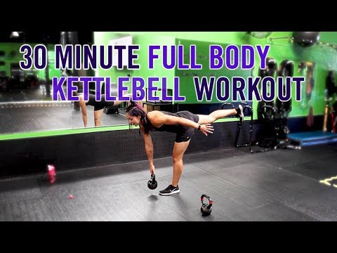 30 Minute Kettlebell Kraziness! | Full Body Exercise