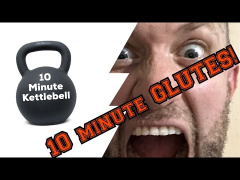 10 MINUTE KETTLEBELL GLUTES!!!