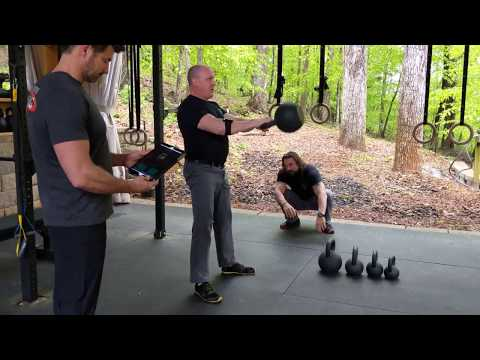 Measuring the energy of kettlebell swings with the PUSH 2.0 instrument