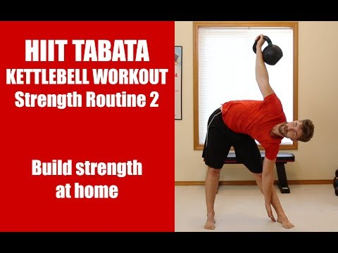 HIIT Tabata Kettlebell Workout: Strength Routine 2