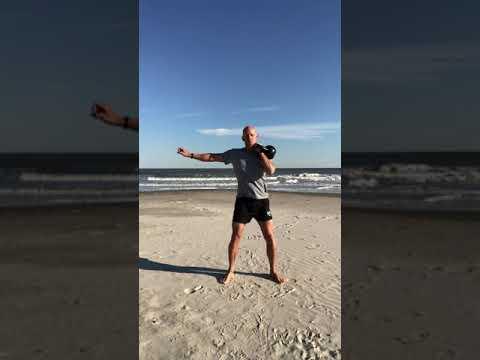 Row Neat Swing Snatch Squat Press Windmill Kettlebell Circulation Seashore Workout