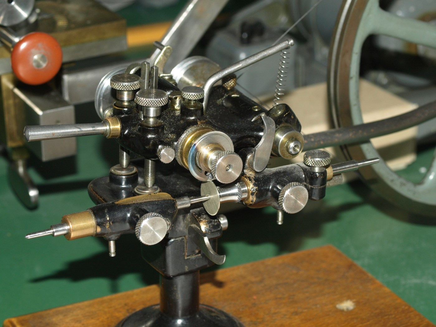 Old fashioned watchmaking lathe in the AP After Sales Service Department