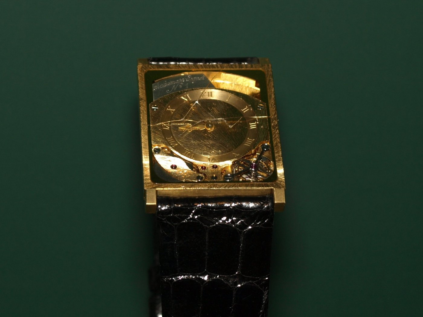 The world's first tourbillon wristwatch on display at AP Museum