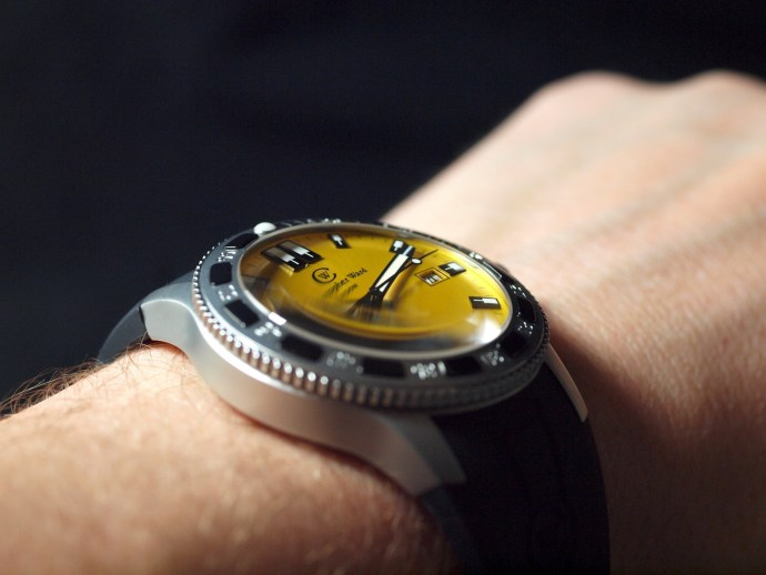 Christopher Ward C60 Kingfisher Auto Diver wristshot