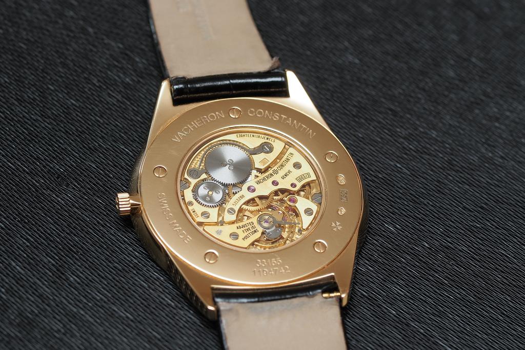 Vacheron Constatin thinnest watch caseback
