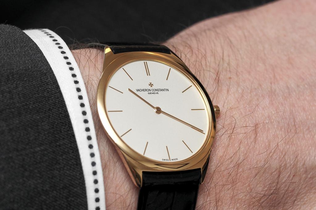 Vacheron Constantin thinnest watch wristshot