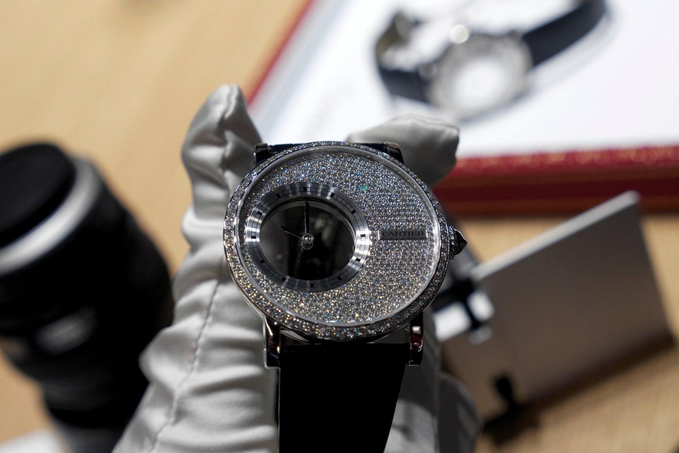 Diamond-set Cartier Mysterious watch