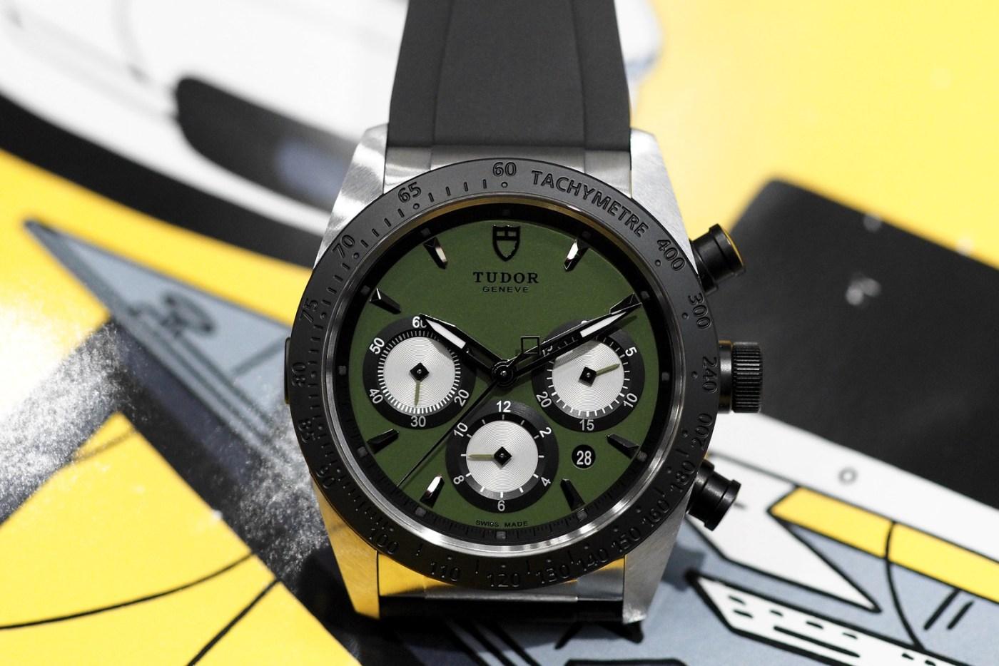 Tudor Fastrider Chrono green dial