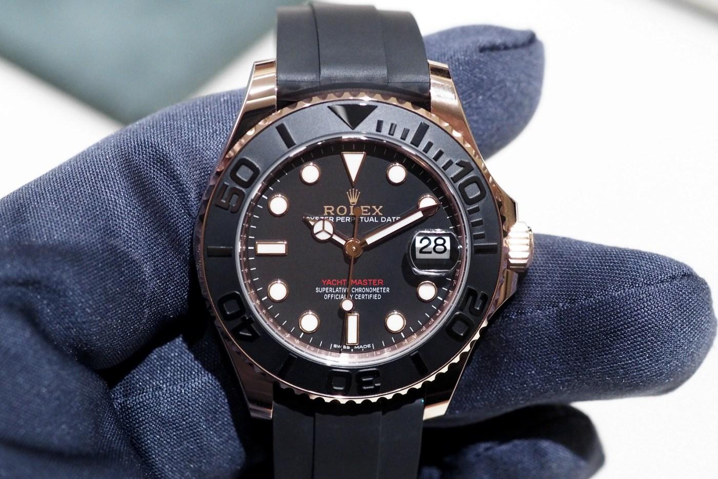 Rolex Yacht Master Everose Gold gloveshot
