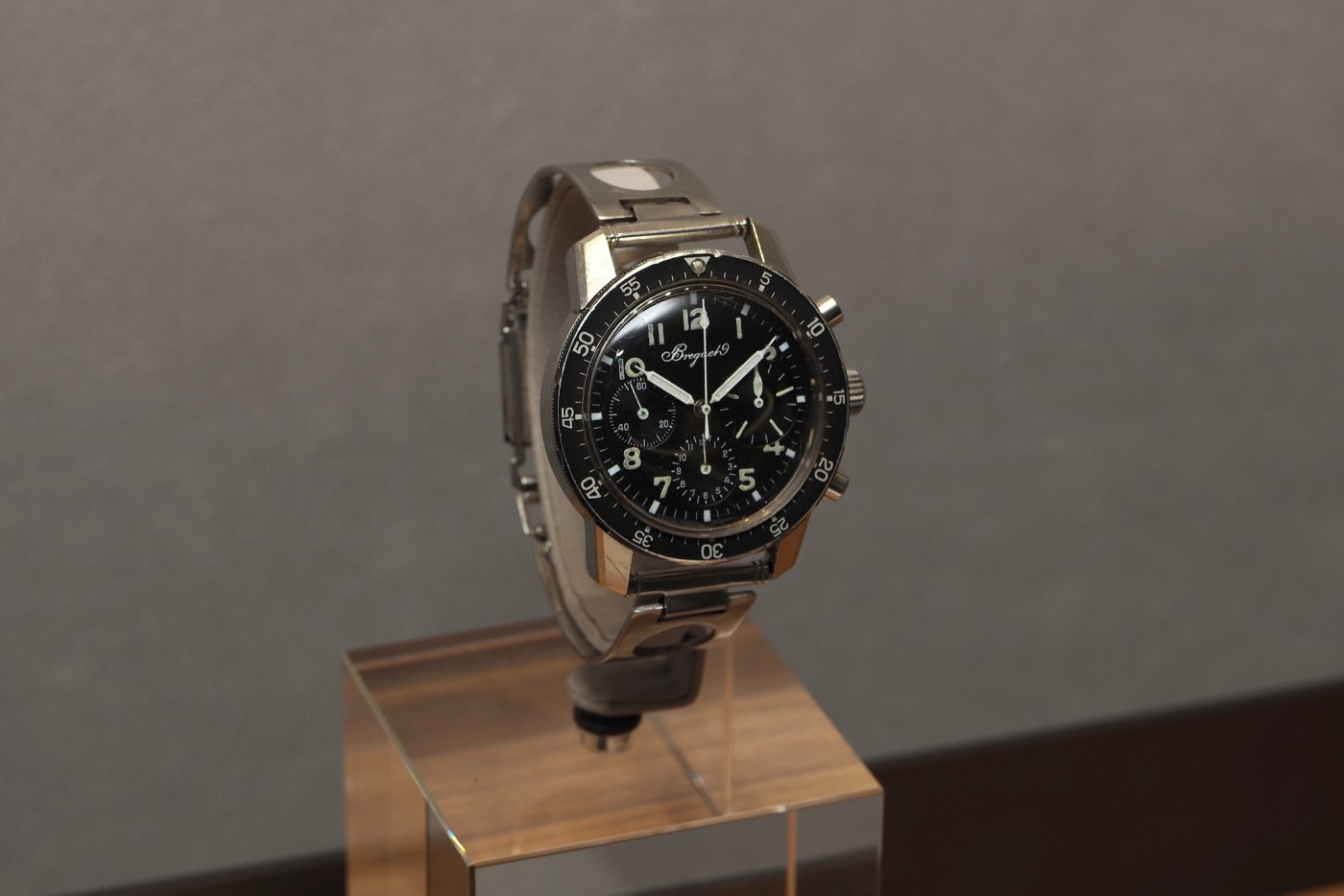 Breguet vintage Type 20 in 38 mm steel case with Tri-Compax dial
