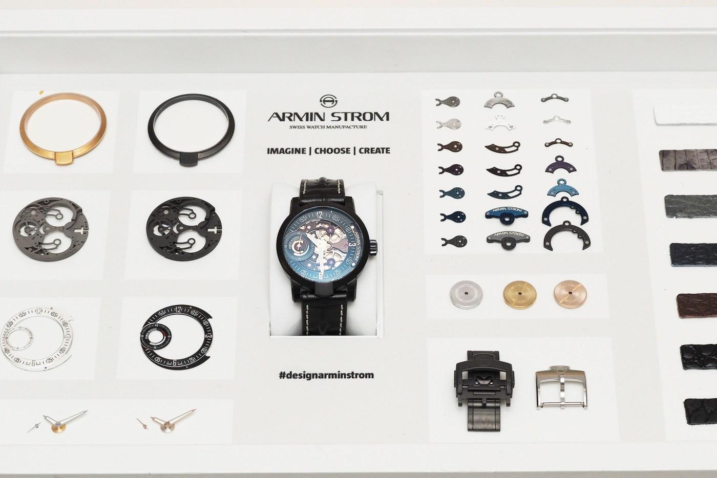 Armin Strom Configurator sample components