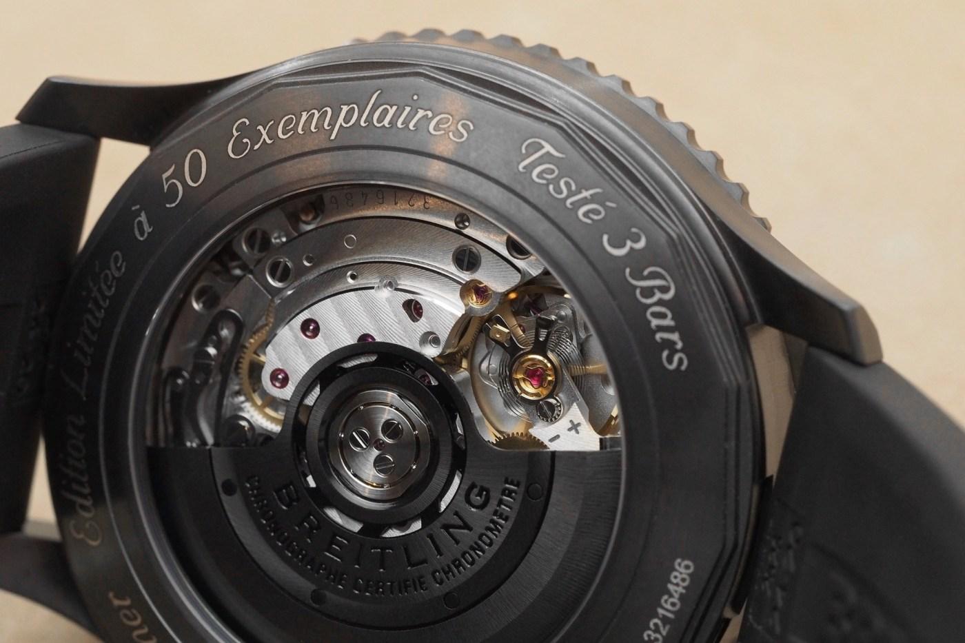 Breitling Navitimer 46mm All-Black caseback