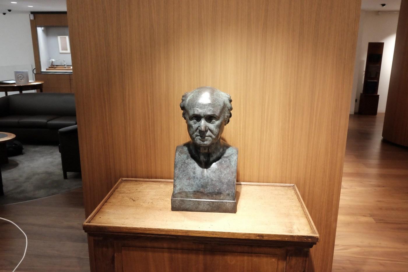 Bust of Abraham-Louis Breguet at the Breguet Museum of Paris