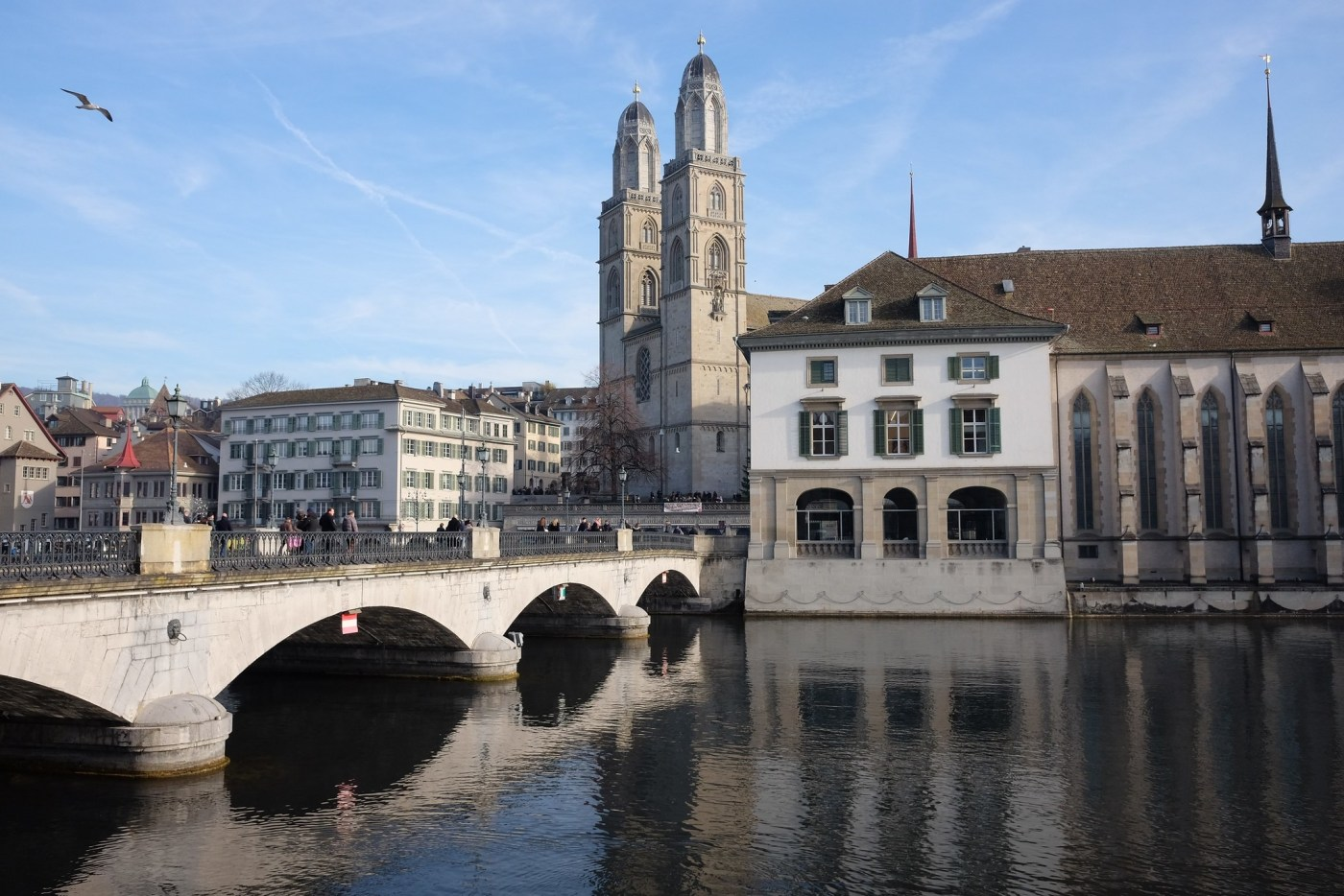 Beautiful scene in Zurich, steps from the Breguet boutique