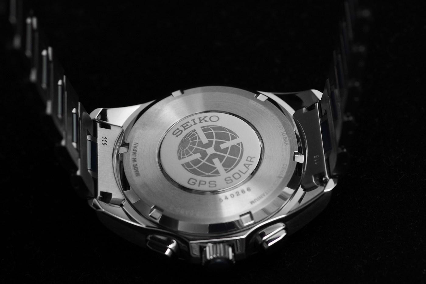 Seiko Astron GPS Solar Dual-Time caseback