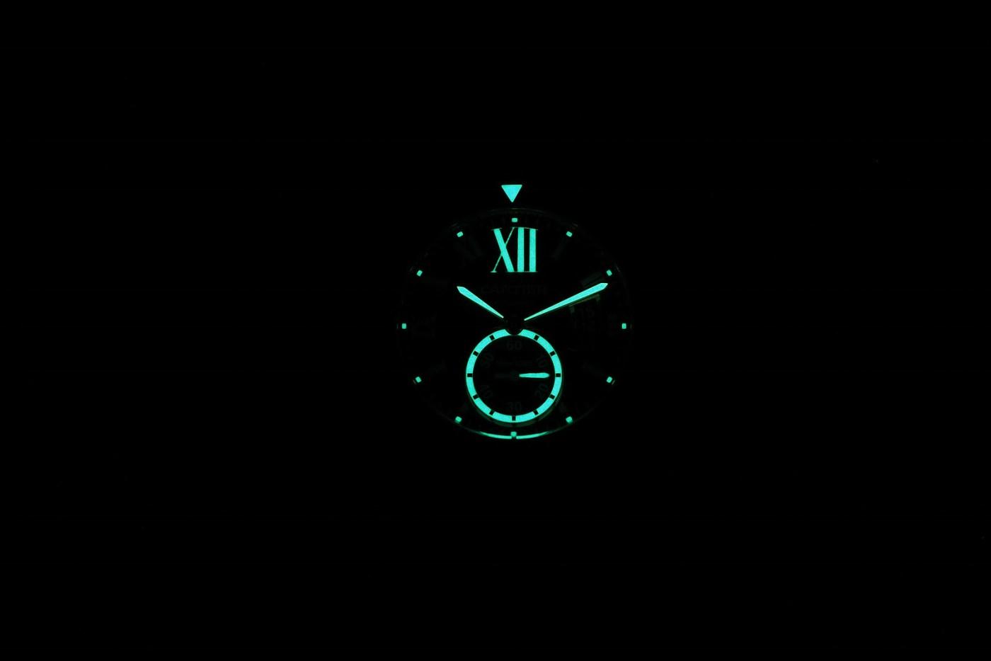 Cartier Two-Tone Diver's Watch lumeshot