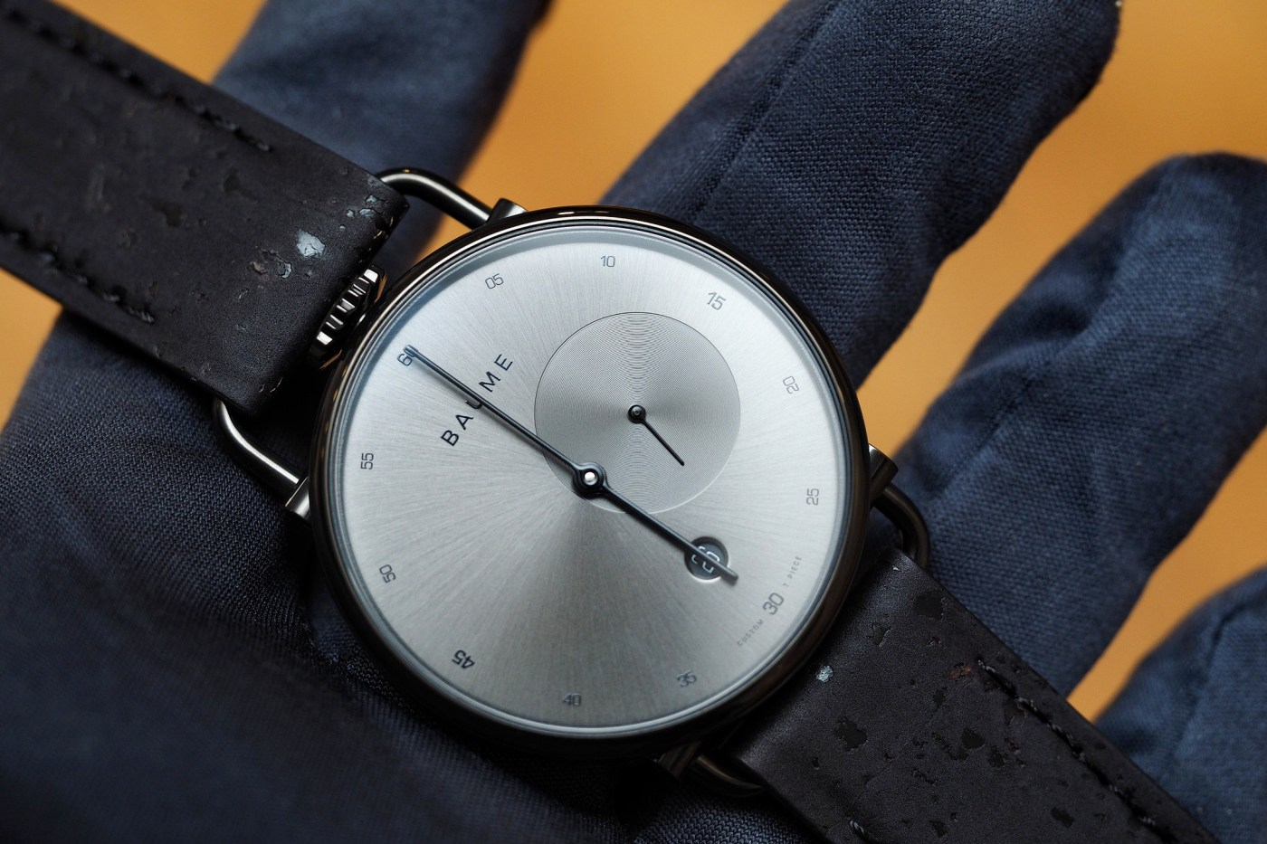 Baume 41 mm Small Second silver dial