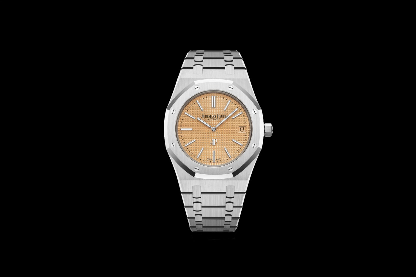 """Royal Oak """"Jumbo"""" Extra-Thin with Pink Gold toned dial"""