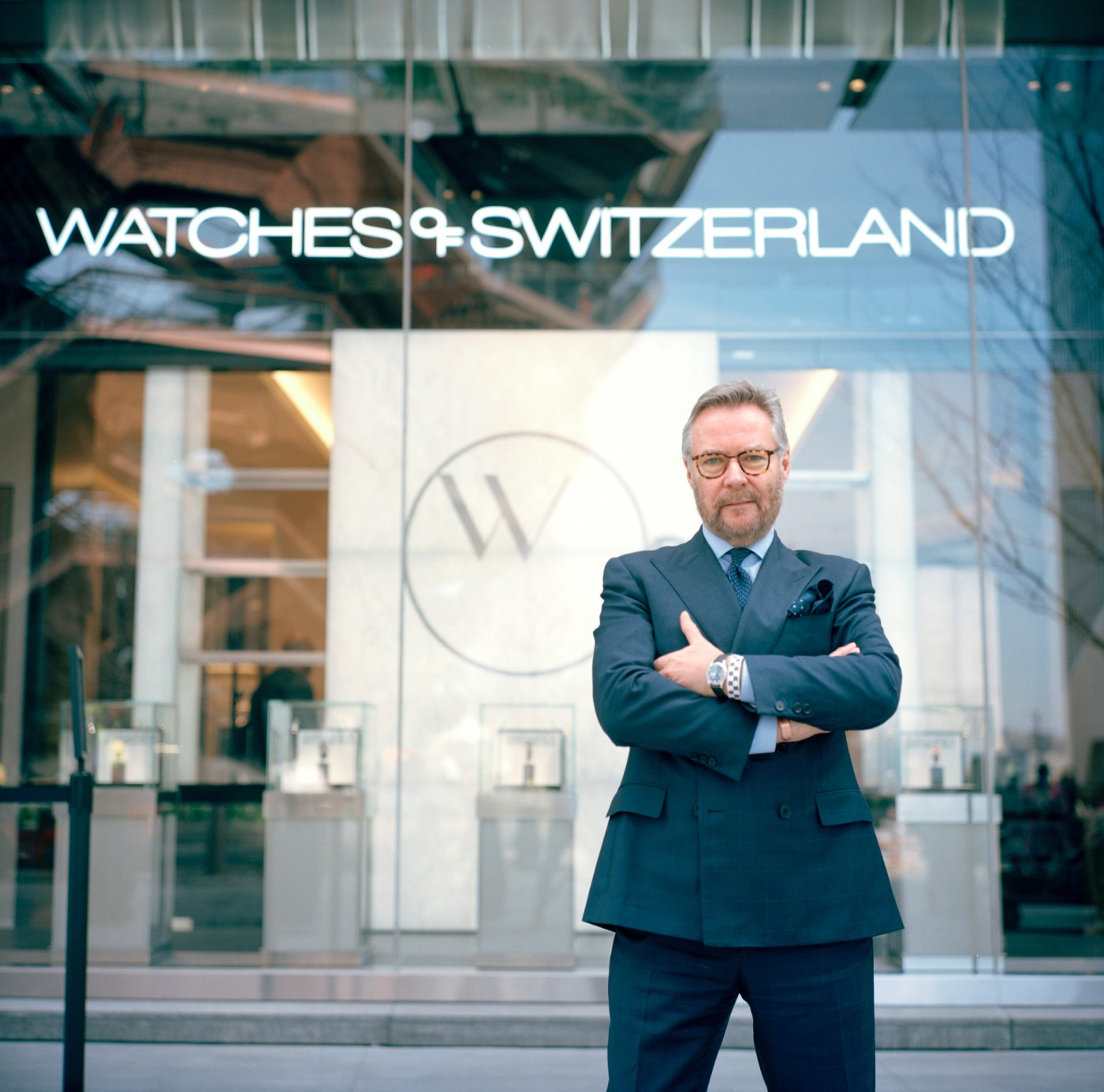 CEO the of Watches of Switzerland Group, Brian Duffy, outside of their new Hudson Yards flagship store