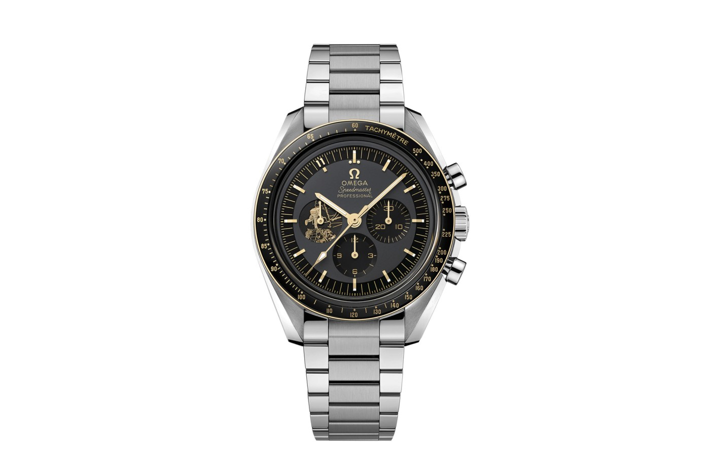 """Speedmaster Professional """"Moonwatch"""" 50th Anniversary Limited Edition Apollo 11 front"""