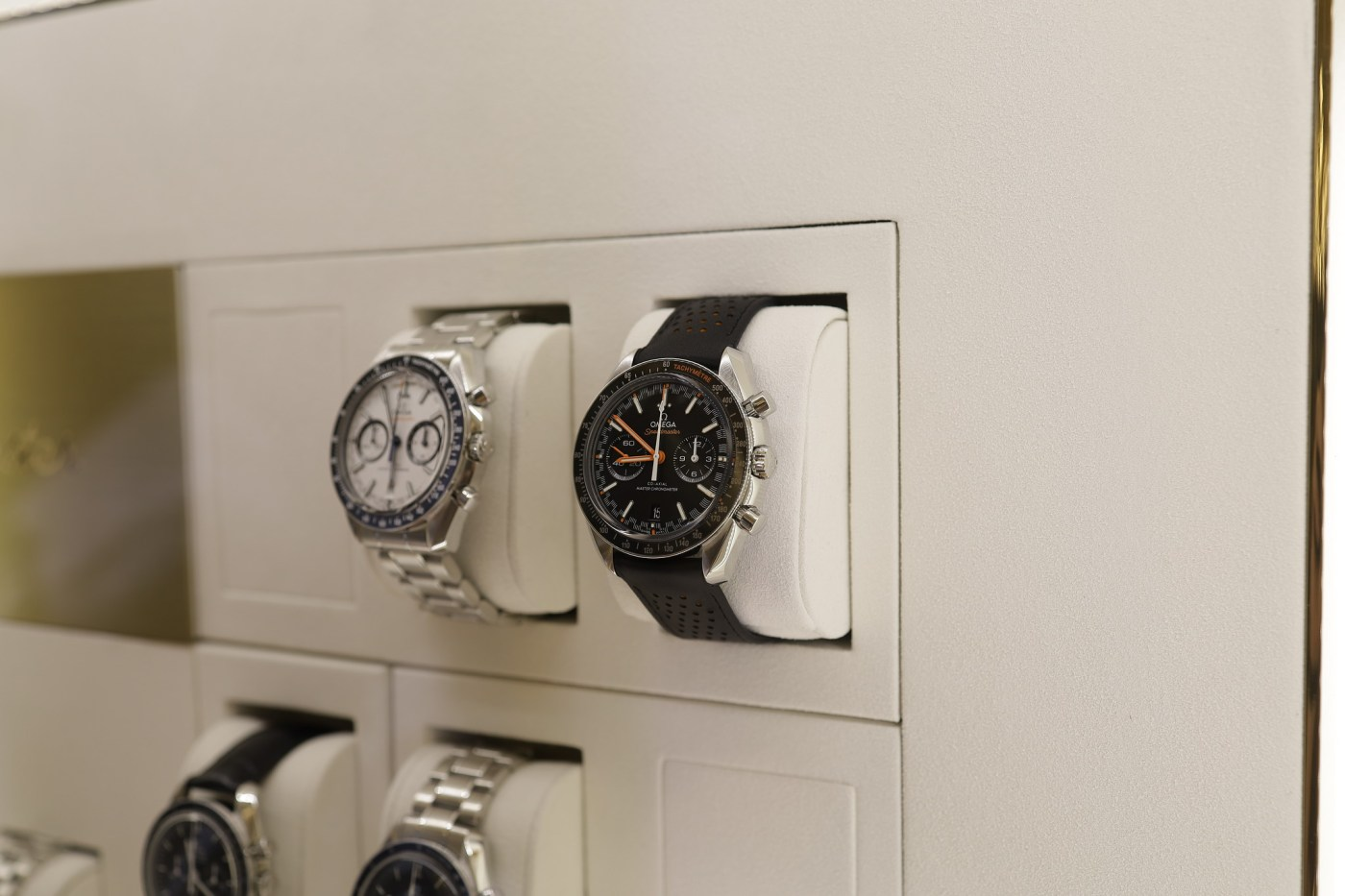 Omega Speedmasters in the case