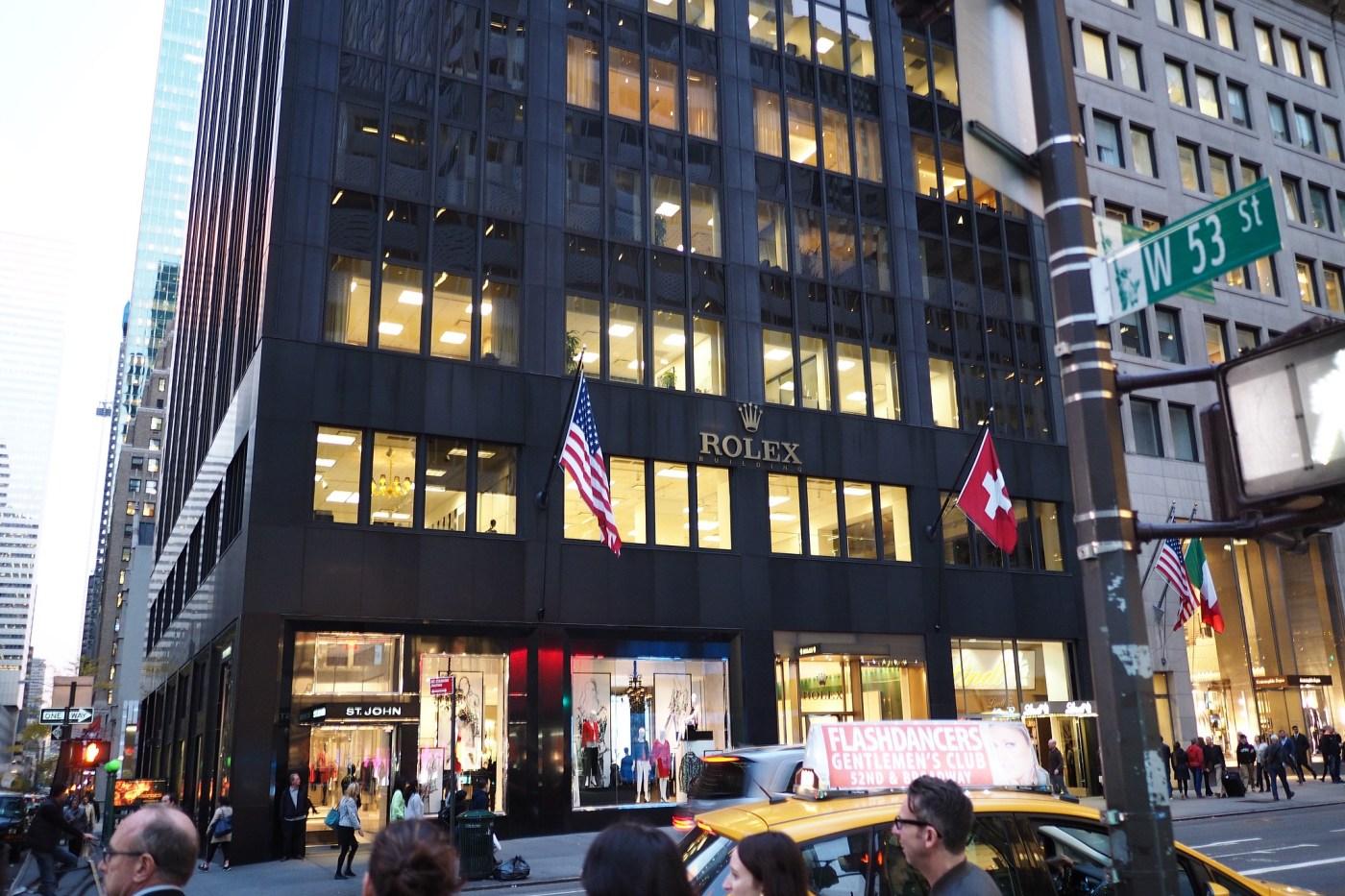 Rolex current Headquarters at 665 Fifth Avenue